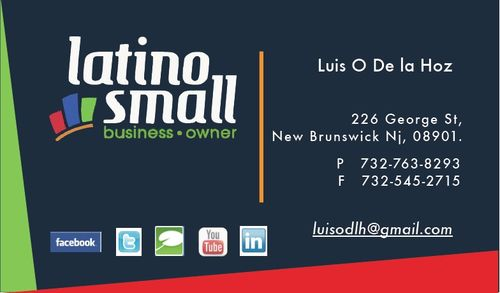 Latino Small Business Owner Business Card